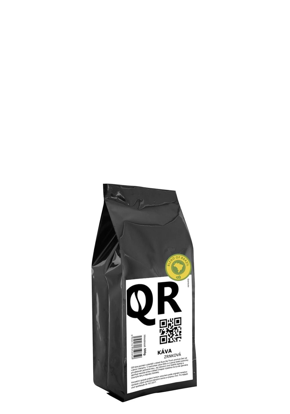 """QR káva """"Brazilský blend"""" 500g"""