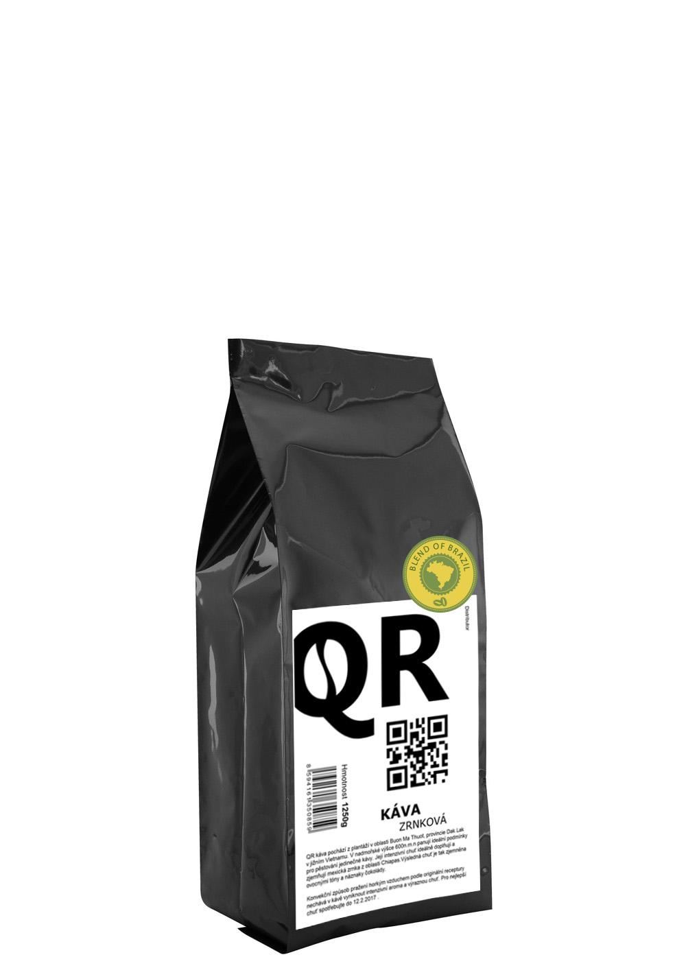 """QR káva """"Brazilský blend"""" 1250g"""